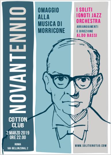 NovantEnnio omaggio jazz a Morricone 2 marzo 2019 Roma